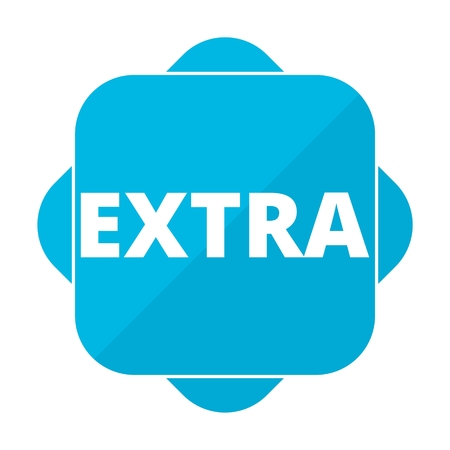 extra: Blue square icon extra
