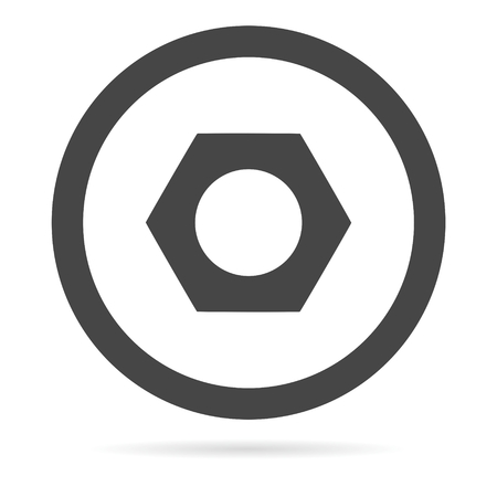 fasteners: Vector nut icon