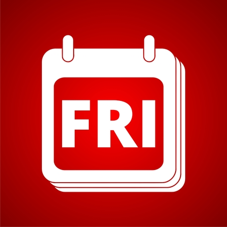 week: Days of the week friday Illustration
