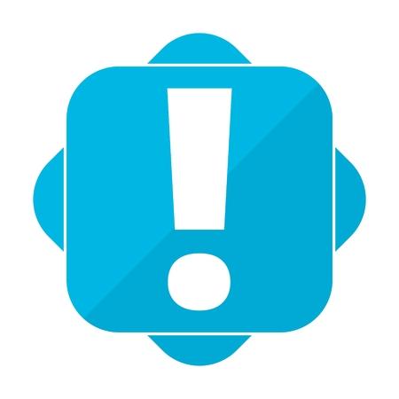 signo de admiracion: marca azul de exclamaci�n cuadrada Vectores