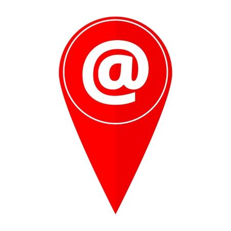 e mail: Map pointer e mail symbol