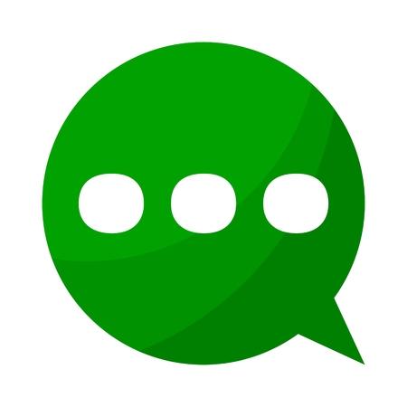 ellipsis: Green bubble Ellipsis punctuation Illustration