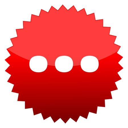 ellipsis: Red sun sign Ellipsis punctuation Illustration