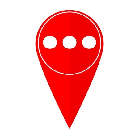 spech bubble: Map pointer Ellipsis