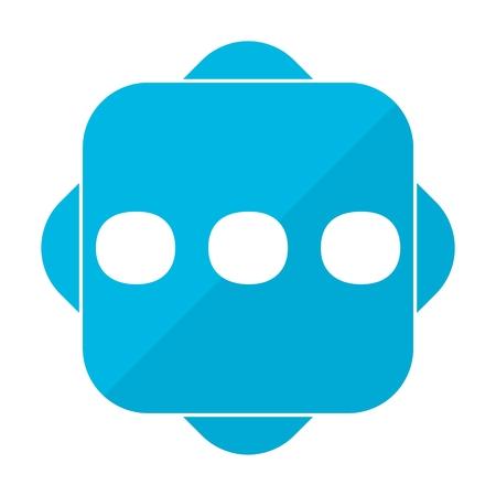 ellipsis: Blue square ellipsis punctuation
