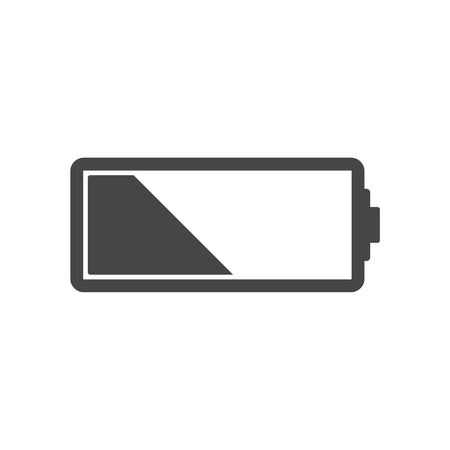 low battery: Low battery icon