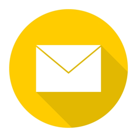 get in touch: Mail Icon with long shadow