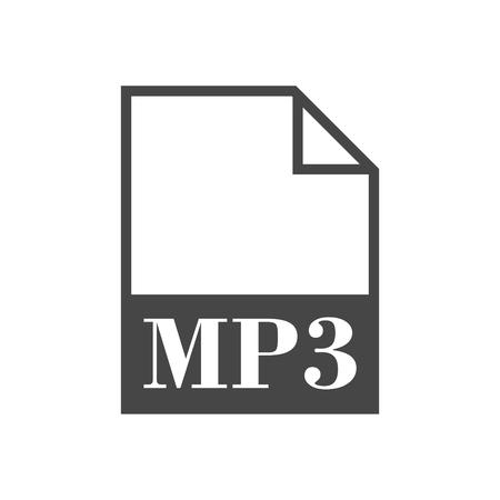 mp3: MP3 file icon Illustration