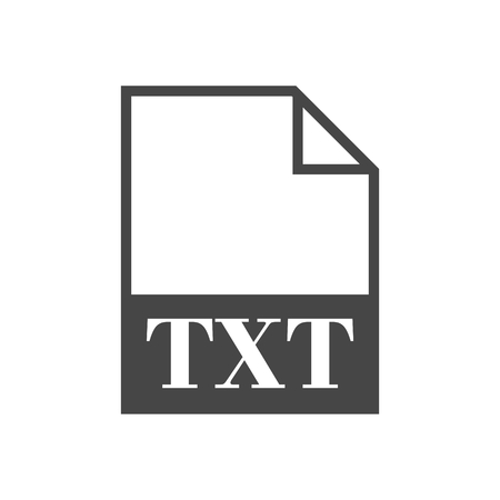 txt: TXT file icon with long shadow Illustration