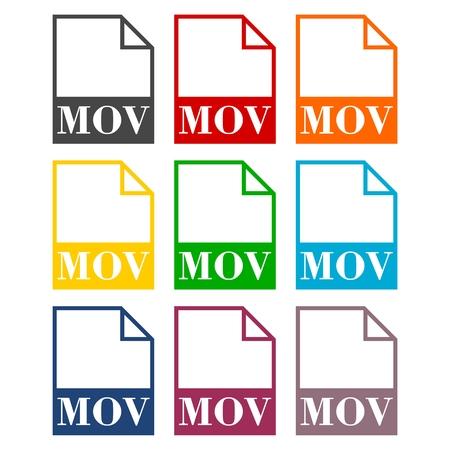 mov: MOV file icons set