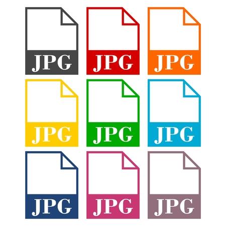 to unpack: JPG file icons set