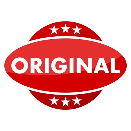 original: Red button with stars original