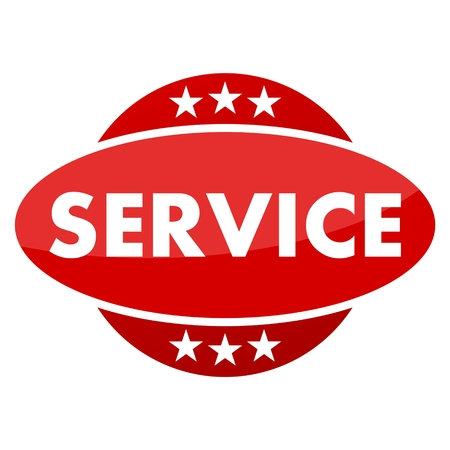 mailed: Red button with stars service