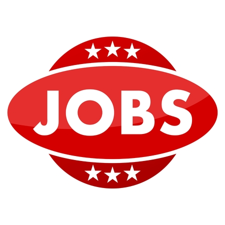 jobs: Red button with stars jobs