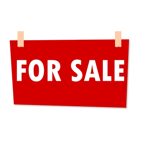 for sale sign: For Sale Sign - illustration