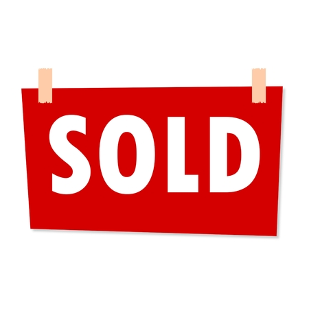 sold sign: Sold Sign - illustration