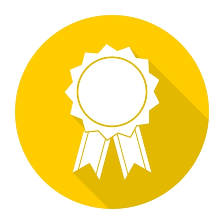 medal like: Award icon, Vector illustration with long shadow