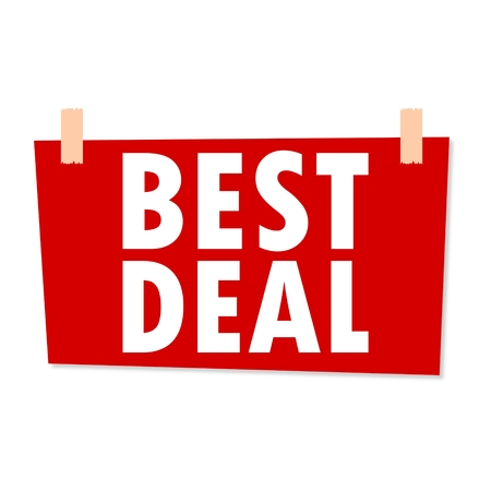 deduction: Best Deal Sign - illustration