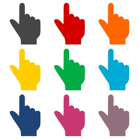 hand cursor: Hand icon, hand cursor icons set
