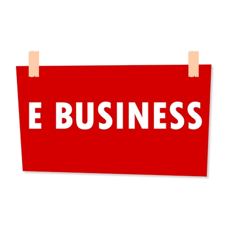 e business: E Business Sign - illustration Illustration