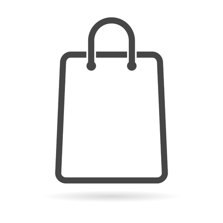 grocery store series: Shopping bag icon Illustration
