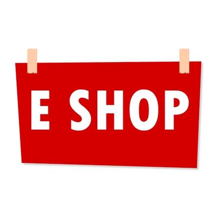 e shop: E Shop Sign - illustration