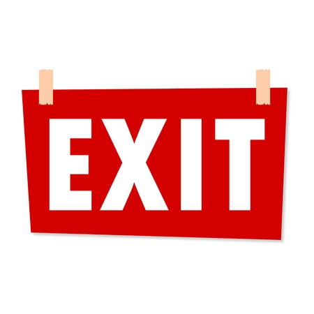 exit sign: Exit Sign - illustration