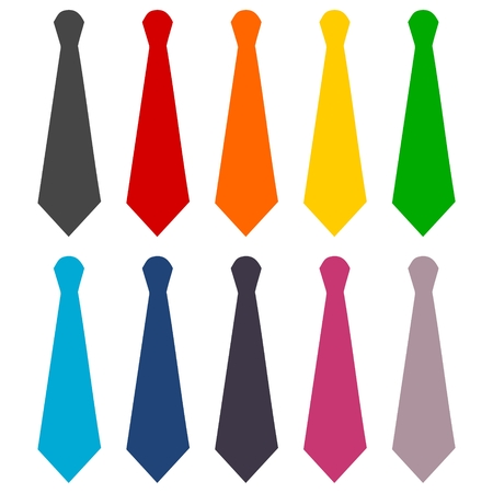 necktie: Necktie icons set