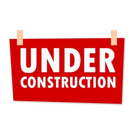 grungy header: Under Construction Sign - illustration Illustration