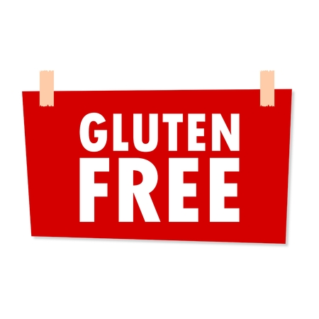 gluten: Gluten Free Sign - illustration
