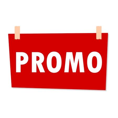 profit celebration: Promo Sign - illustration Illustration