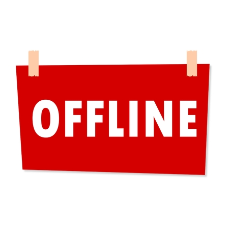 offline: Offline Sign - illustration