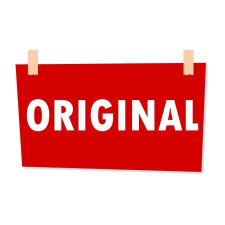 original: Original Sign - illustration