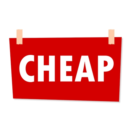 cheap: Cheap Sign - illustration