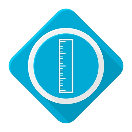 precise: Blue icon ruler with long shadow