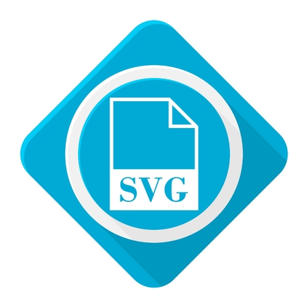 svg: Blue icon svg file with long shadow