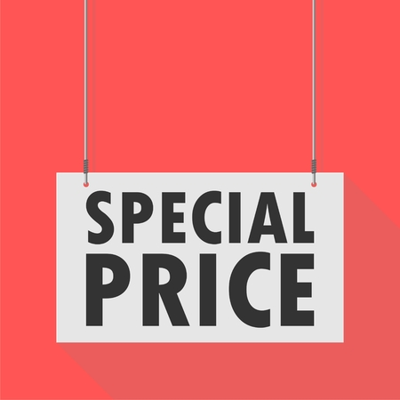 special price: Hanging Sign special price Illustration