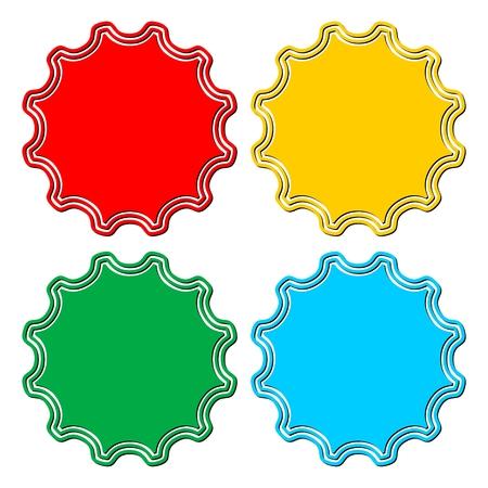 adhesion: Blank badge shapes set