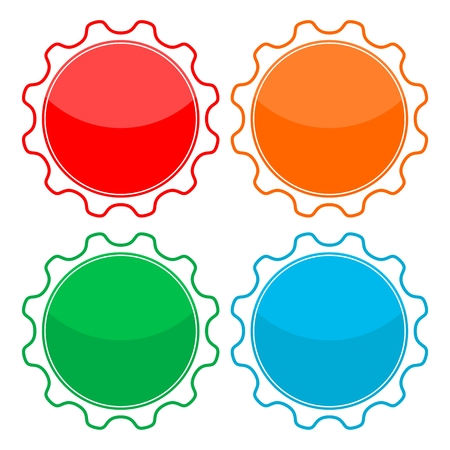adhesion: Blank badge shapes set
