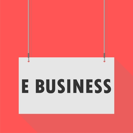 e business: Hanging Sign e business Illustration