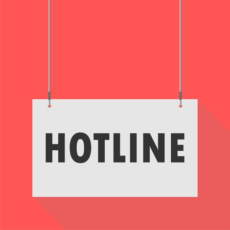 hotline: Hanging Sign hotline