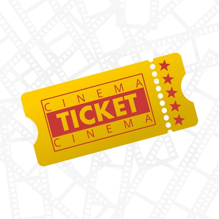 cinema ticket: Cinema Ticket Illustration