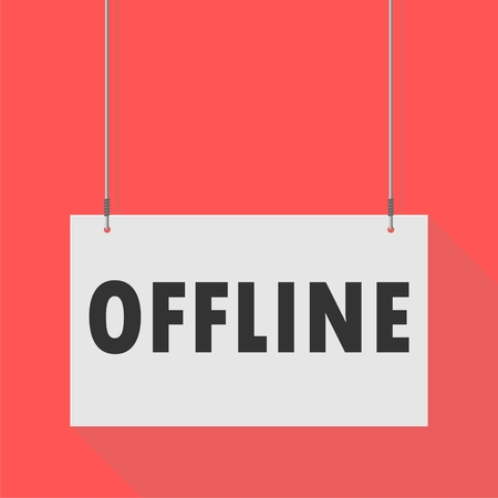 offline: Hanging Sign offline Illustration