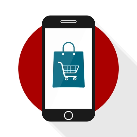 commerce: Mobile Commerce Icon shopping