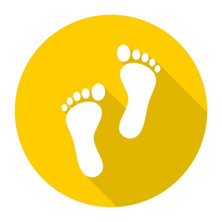 alibi: Two footprint icon
