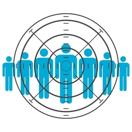 Die Menschen stehen die gezielte Verbraucher Standard-Bild - 58015983