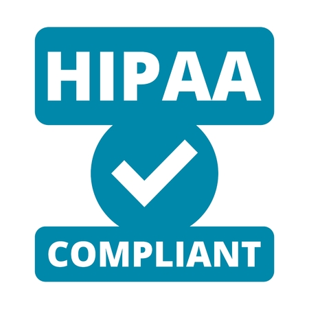 HIPAA badge - Health Insurance Portability and Accountability Act Фото со стока - 58016102