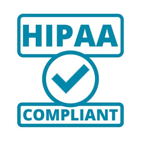 HIPAA 배지 - 건강 보험 이식성 및 책임 성법 일러스트