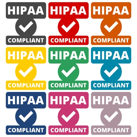 data protection act: HIPAA badge - Health Insurance Portability and Accountability Act
