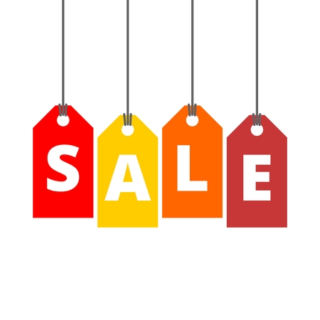 sale tags: Vector Hanging Sale Tags